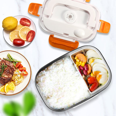 Aliments lunch box electrique compartiment inox