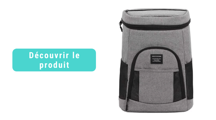 sac a dos isotherme gris 25 litres