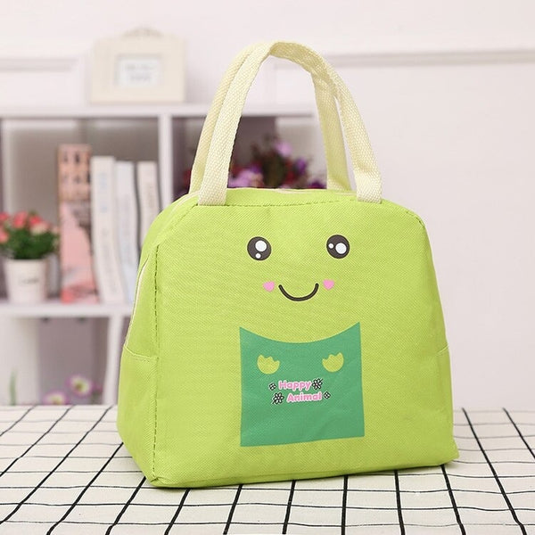 lunch bag vert motif cartoon