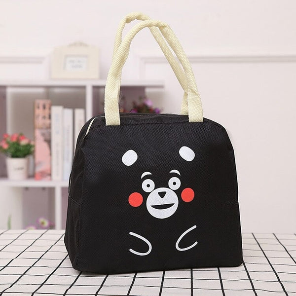 lunch bag noir original motif ourson