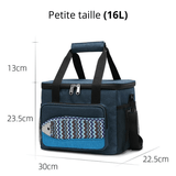 Glaciere souple 16L bleu motif poisson dimension