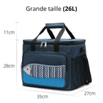 Glaciere souple 26L bleu motif poisson dimension