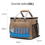 Glaciere souple 26L marron motif poisson dimension