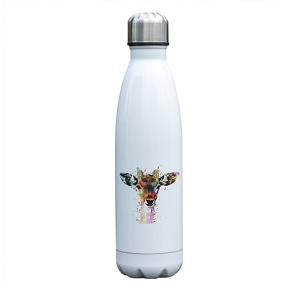 Bouteille isotherme 500 ml biche multicolore