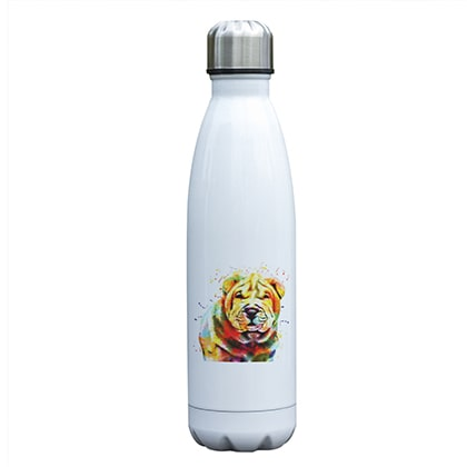 Bouteille isotherme 500 ml chien shar pei multicolore