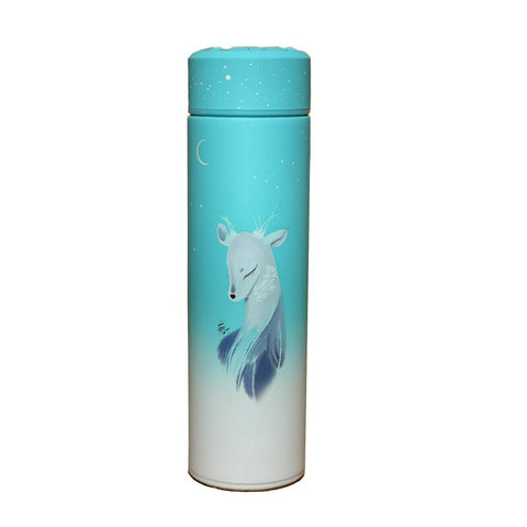 Bouteille isotherme 500 ml biche bleue