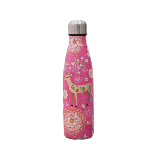 Bouteille isotherme 500 ml biche rose