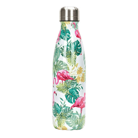 Bouteille isotherme 500 ml flamant rose tropical
