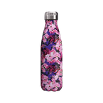 gourde inox bouteille isotherme dahlia roses et violettes