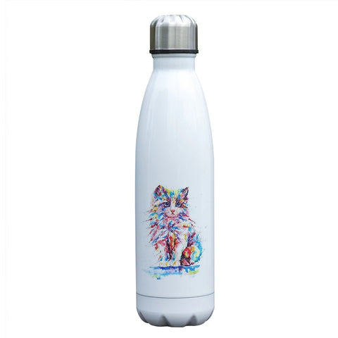 Bouteille isotherme 500 ml Chat Persan Multicolore