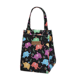 Sac à lunch isotherme motif éléphants multicolores