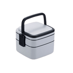 lunch box bento isotherme carre gris