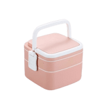 bento isotherme carre rose