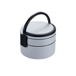 lunch box isotherme bento rond gris