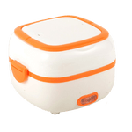 lunch box chauffante electrique orange modele carré