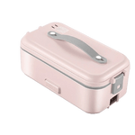 lunch box chauffante un etage rose pale