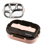lunch box isotherme inox rose cinq compartiments