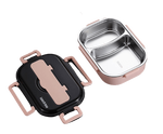 lunch box isotherme inox rose deux compartiments