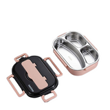 lunch box isotherme inox rose trois compartiments