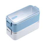 lunch box isotherme inox bleue et blanche