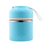 lunch box isotherme bleue un compartiment