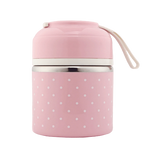 Lunch box isotherme rose un compartiment