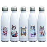 Gourde Inox Chat multicolore