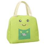 lunch bag vert motif cartoon mignon