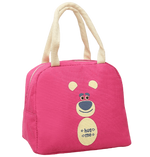 sac isotherme rose au motif ours mignon