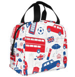 sac isotherme repas motif londres bus rouge angleterre