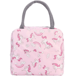sac isotherme pour repas rose motif licorne