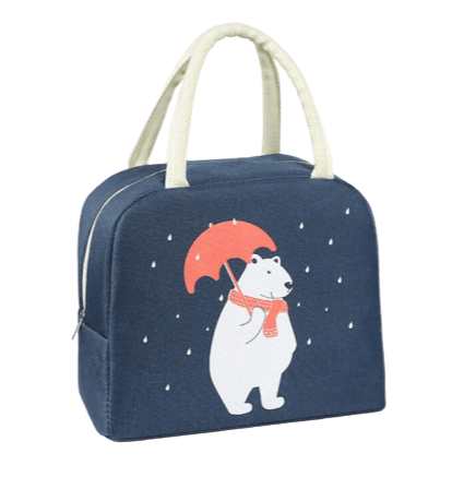 sac isotherme bleu ours polaire blanc