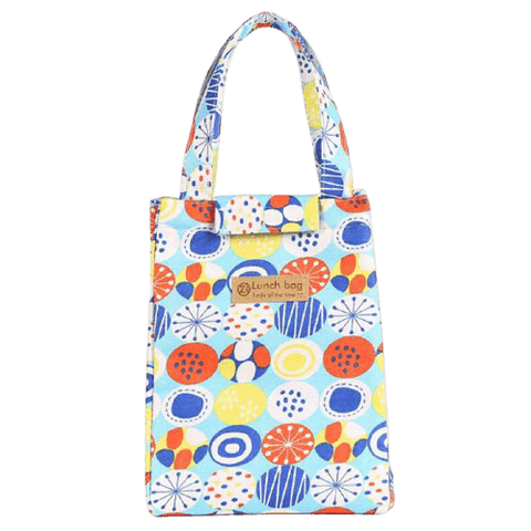 sac isotherme repas motif ballons multicolores