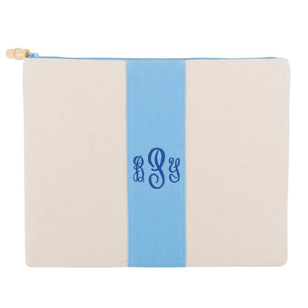 Monograms For Me Light Blue Finley Pouch