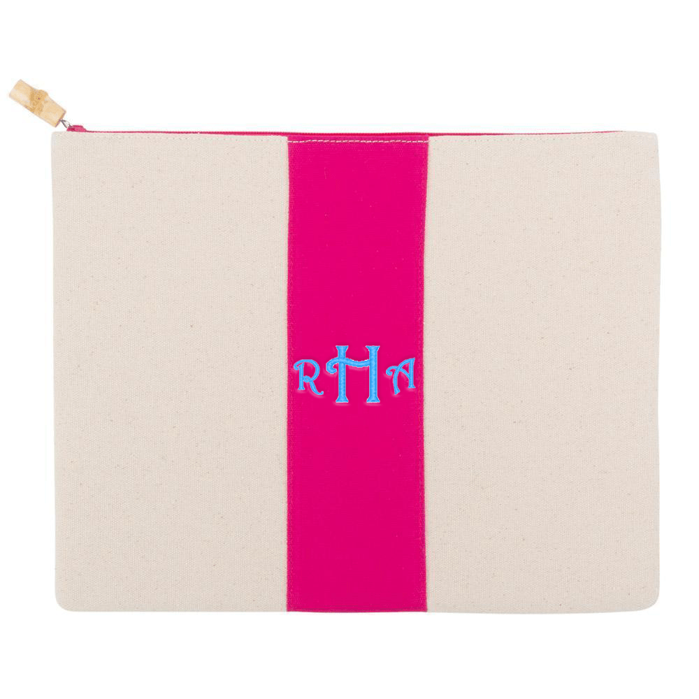 Monograms For Me Pink Finley Pouch