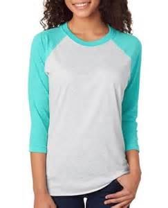 vendor-unknown Apparel Aqua / Baby Pink Monogrammed Baseball Tee