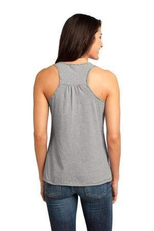 vendor-unknown Apparel Black Monogrammed Racerback Narrow Striped Tank