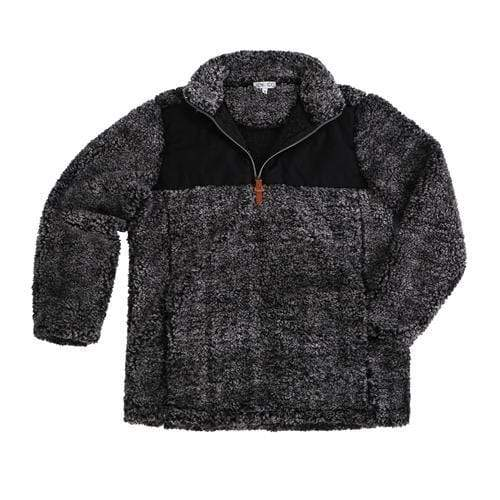 vendor-unknown Apparel Black / Small Monogrammed Double Placard Sherpa