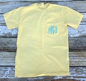vendor-unknown Apparel Butter Monogrammed Short Sleeve Pocket Tee - Available in 19 colors