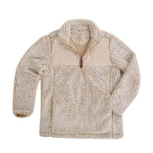 vendor-unknown Apparel Cream / Small Monogrammed Double Placard Sherpa