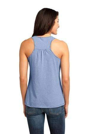 vendor-unknown Apparel Lapis Blue Monogrammed Racerback Narrow Striped Tank