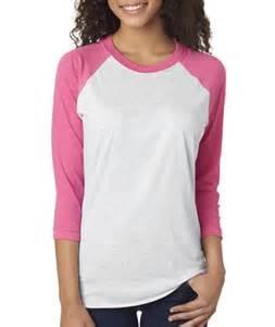 vendor-unknown Apparel Pink / Hot Pink Monogrammed Baseball Tee
