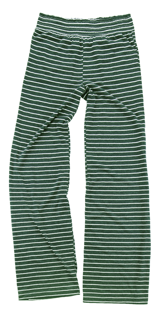 vendor-unknown College Bound Green / Left Hip Design Monogrammed Margo Lounge Pants