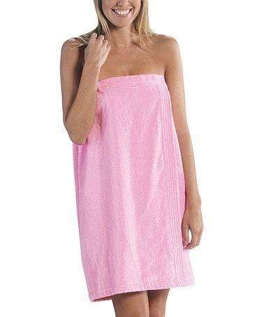 vendor-unknown College Bound Light Pink Monogrammed Terry Spa Wrap - Available in 12 colors