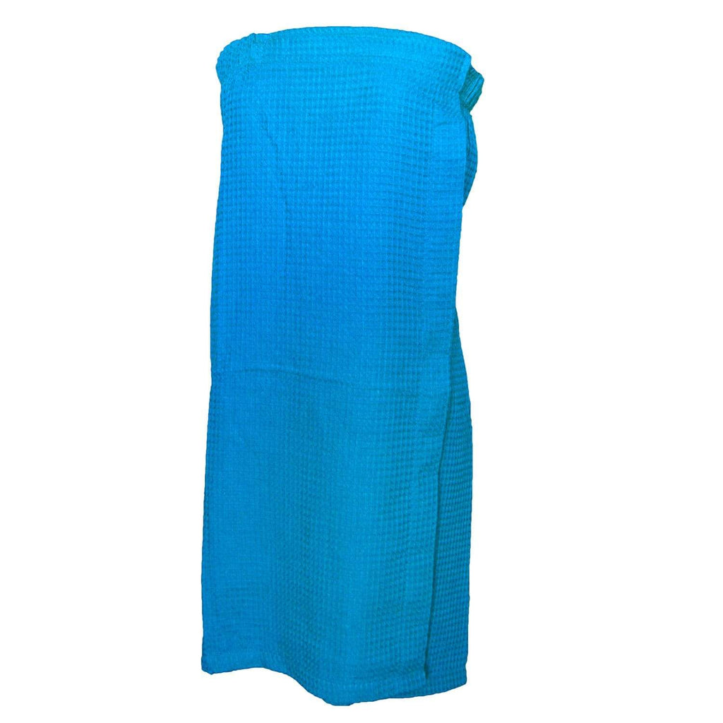 vendor-unknown College Bound Turquoise Monogrammed Waffle Weave Spa Wrap - Available in 11 colors