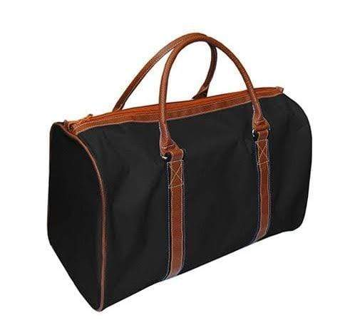 vendor-unknown For the Guys Black Monogrammed Duffel Bag