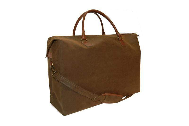 vendor-unknown For the Guys Brown Monogrammed Scotch Grain Duffel