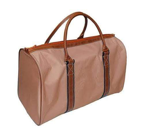vendor-unknown For the Guys Khaki Monogrammed Duffel Bag