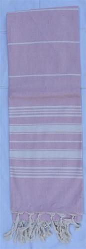 vendor-unknown Fun4Summer Monogrammed Turkish Towel - Light Pink Stripe