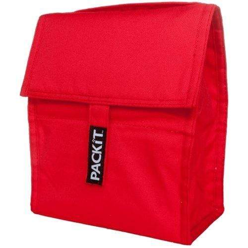 vendor-unknown Home Essentials Monogrammed Pack It Lunchbox - Red